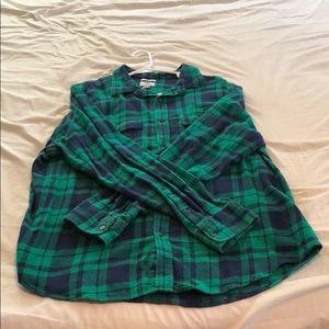 Old Navy Plaid Button Down Shirt - XL